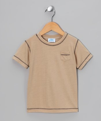 Tan Pocket Tee - Infant, Toddler & Boys