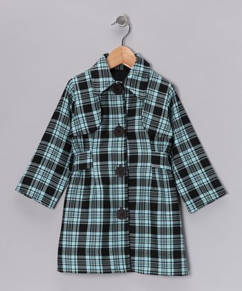 Blue Plaid Coat - Infant, Toddler & Girls