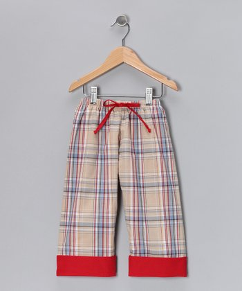 Tan Plaid Pants - Infant, Toddler & Boys