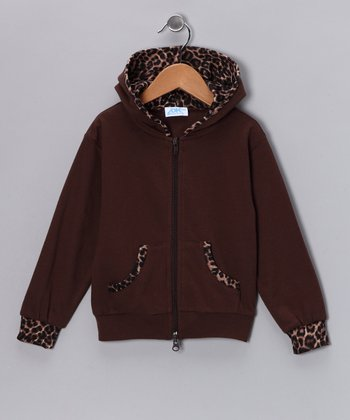 Brown Leopard Zip-Up Hoodie - Infant, Toddler & Girls