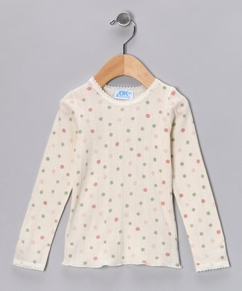 Crème Floral Tee - Infant, Toddler & Girls