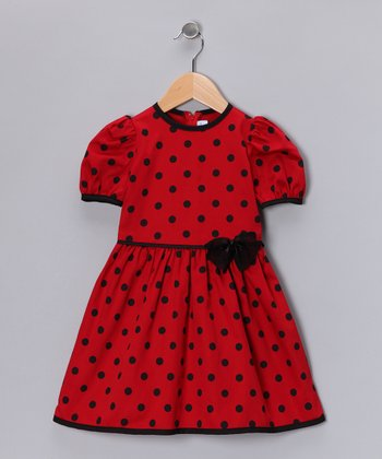 Red Polka Dot Dress - Infant, Toddler & Girls