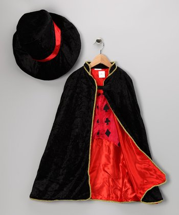 Black Velour Magician Dress-Up Set - Toddler & Kids