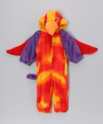 Orange Loud Little Parrot Dress-Up Outfit - Toddler & Kids