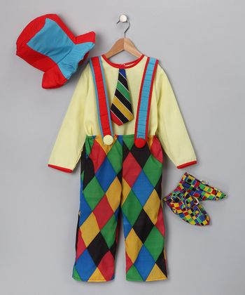 Yellow Circus Clown Dress-Up Set - Kids