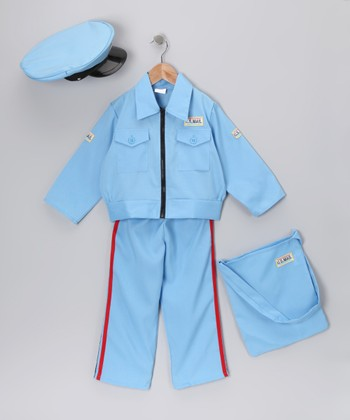 Blue Letter Carrier Dress-Up Set - Toddler