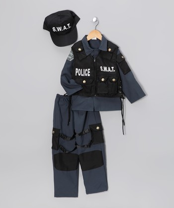 Black SWAT Police Dress-Up Set - Toddler & Kids