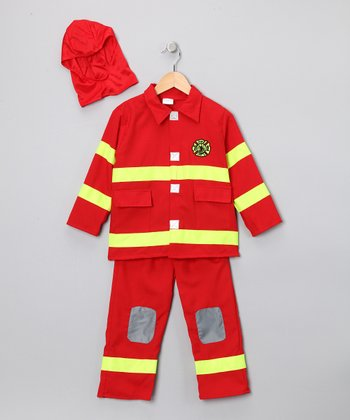 Red Firefighter Dress-Up Set - Toddler & Kids