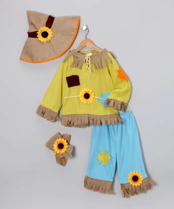 Yellow Scarecrow Dress-Up Set - Kids