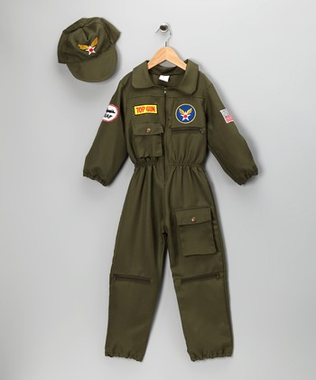 Olive Air Force Pilot Dress-Up Set - Toddler & Kids