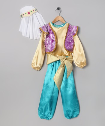 Gold Sultan Dress-Up Set - Toddler & Kids