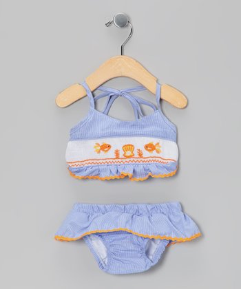 Blue & Orange Fish Bikini - Infant