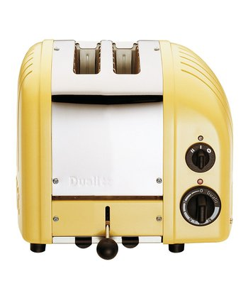 Canary Yellow Two-Slice Toaster