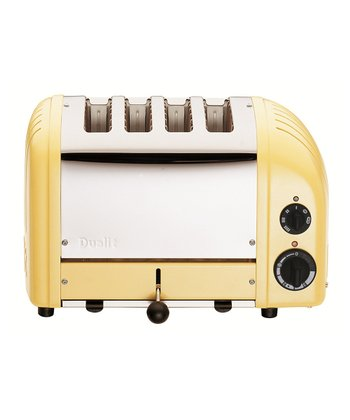 Canary Yellow Four-Slice Toaster