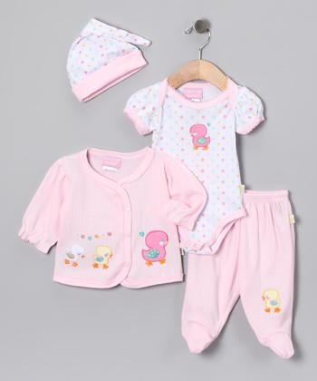 Pink Little Duck Bodysuit Set