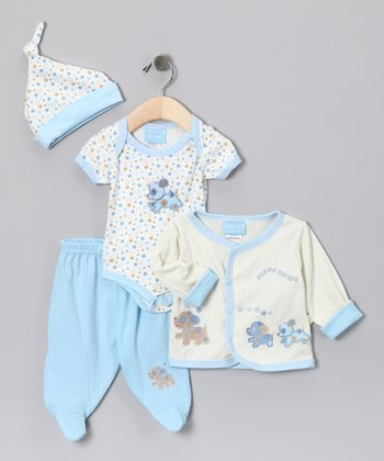Blue Puppy Parade Bodysuit Set - Infant