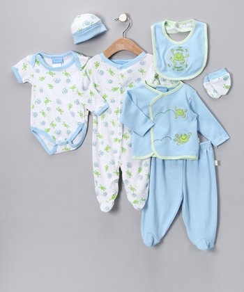 Blue Frog Eight-Piece Layette Set - Infant