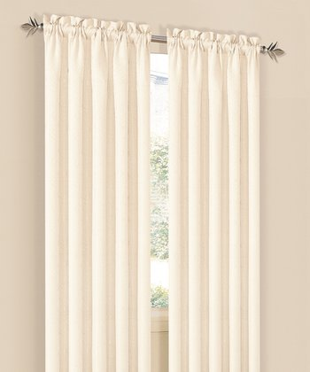 Beige Annabelle Curtain Panel - Set of Two