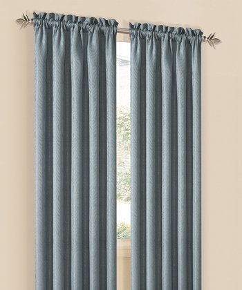 Blue Annabelle Curtain Panel - Set of Two