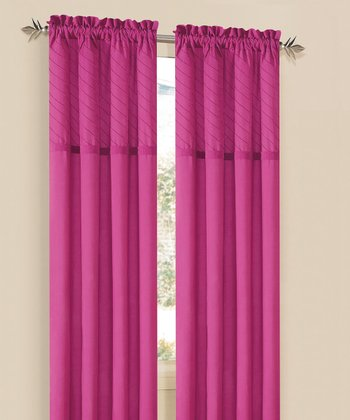 Fuchsia Annecy Curtain Panel - Set of Two