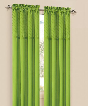 Lime Annecy Curtain Panel - Set of Two