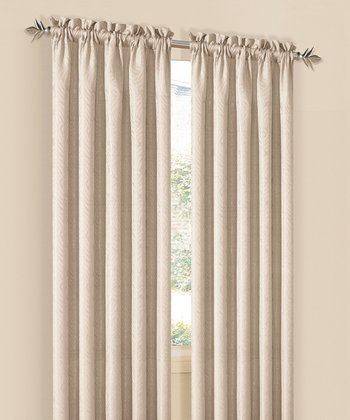 Mocha Annabelle Curtain Panel - Set of Two