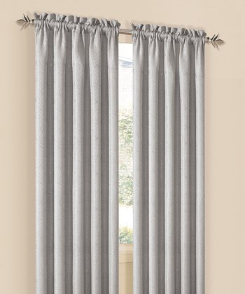 Silver Annabelle Curtain Panel - Set of Two