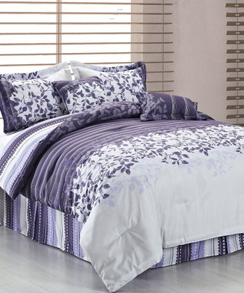 Purple & Gray Beckett Reversible Comforter Set