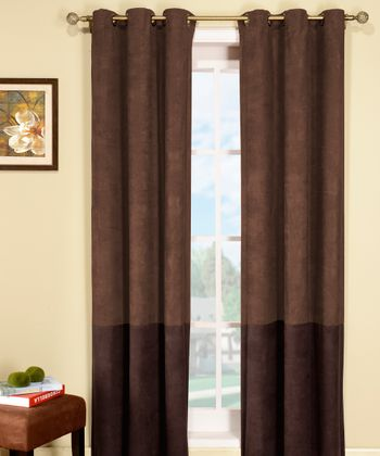 Camel & Brown Birmingham Curtain Panel - Set of Two