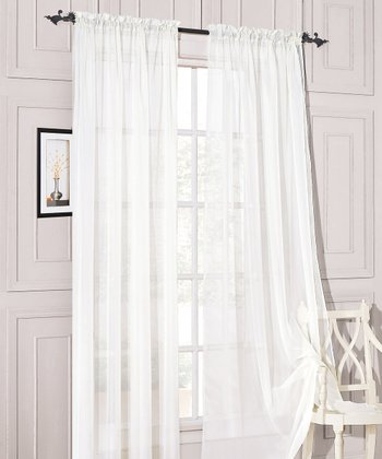 White Sheer Celine Curtain Panel