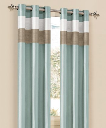 Aqua & Champagne Chelsea Curtain Panel