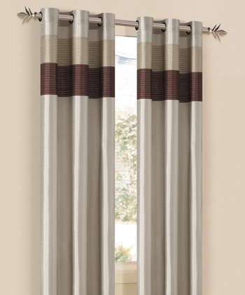 Champagne & Taupe Chelsea Curtain Panel