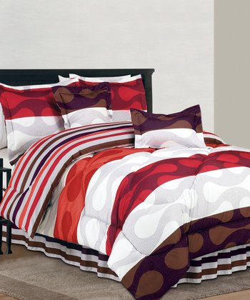 Orange Donelly Reversible Comforter Set