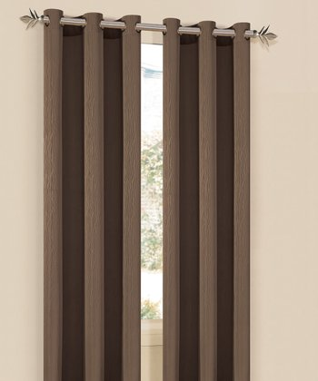 Chocolate Elsie Curtain Panel - Set of Two