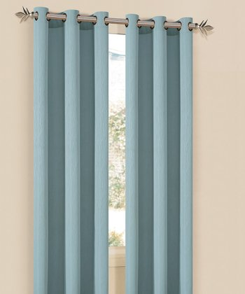 Spa Blue Elsie Curtain Panel - Set of Two