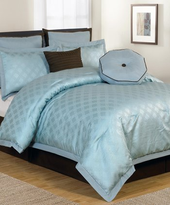 Blue Winston Queen Comforter Set