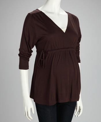 Brown Maternity Dolman Top