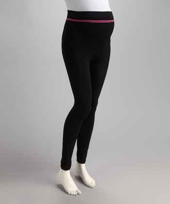 Black Seamless Maternity Leggings - Women