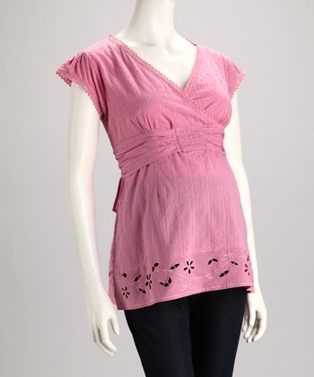 Rose Maternity V-Neck Top - Women
