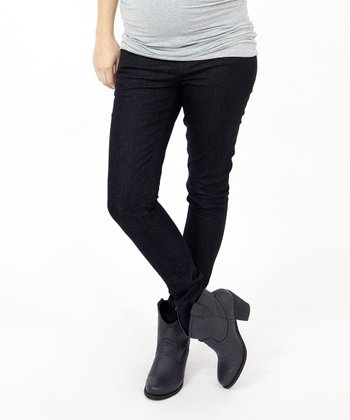 Black Over-Belly Maternity Skinny Jeans