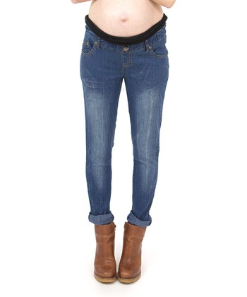 Vintage Over-Belly Maternity Skinny Jeans