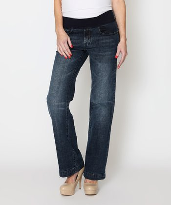 Denim Under-Belly Maternity Straight-Leg Jeans