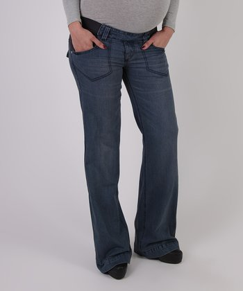 Denim Under-Belly Maternity Boyfriend Jeans