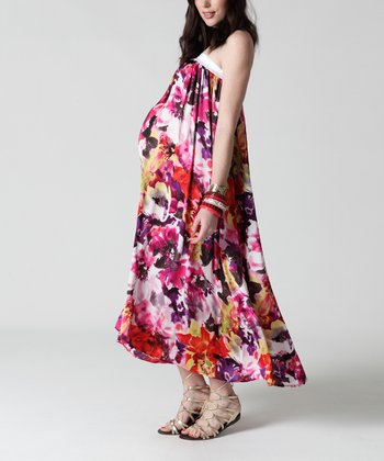 Rumba Floral Convertible Maternity Maxi Dress