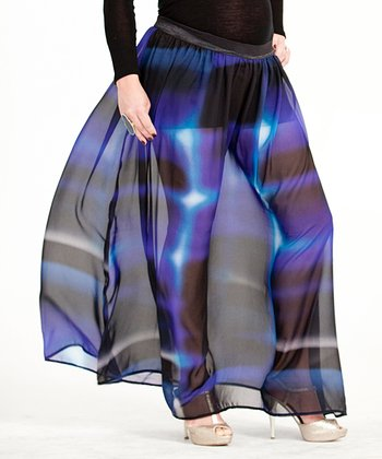 Royal Convertible Maternity Maxi Skirt