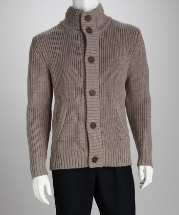 EMU Australia Tan Mt. Marvin Wool Cardigan