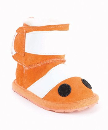 Orange Clown Fish Walker Boot - Kids