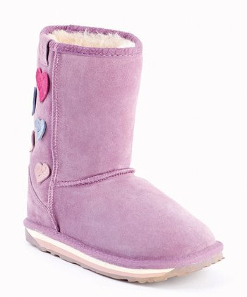 Aubergine Hearts Karama Boot - Kids