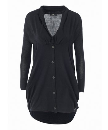 Black Liliput Merino Wool Cardigan - Women