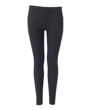 Black Dover Cable-Knit Wool-Blend Leggings - Women